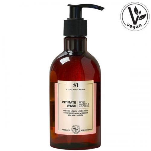 Stara Mydlarnia, Intimate Wash Rose Water & Licorice (Żel do higieny intymnej `Woda różana i lukrecja`)