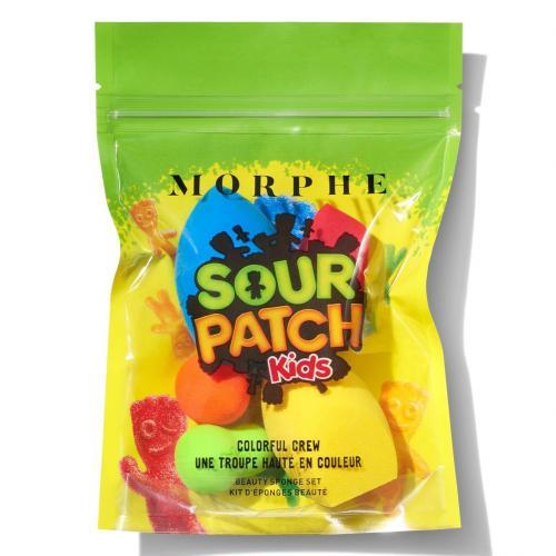 Morphe Brushes, x Sour Patch Kids, Colorful Crew Beauty Sponge Set (Zestaw gąbeczek do makijażu)