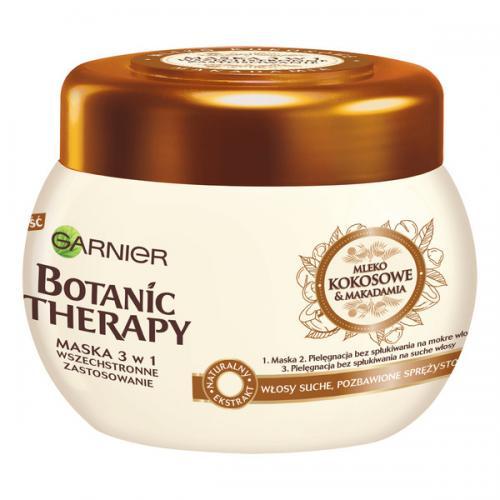 Garnier, Botanic Therapy, Mleko kokosowe i makadamia, Maska do włosów nadająca miękkości