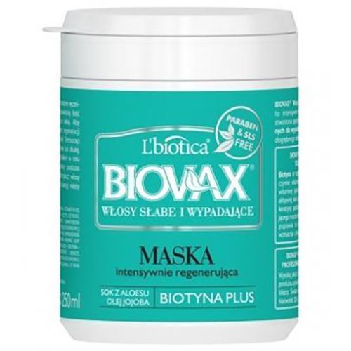 lbiotica biovax maseczka do włosów słabych i wypadających 250ml