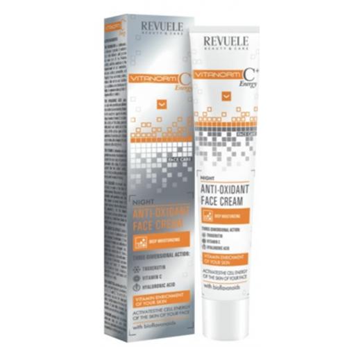 Revuele, Vitanorm C + Energy, Anti-oxidant Face Cream (Krem antyoksydacyjny do twarzy na noc)