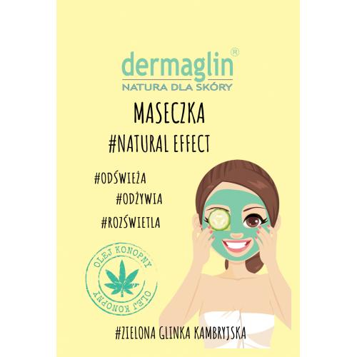 Dermaglin, Maseczka # Natural Effect `Zielona glinka kambryjska + olej konopny + ogórek`