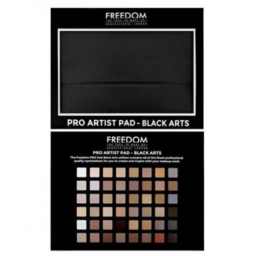 Freedom Makeup London Proartist Black Arts Pad Paleta 48 Cieni