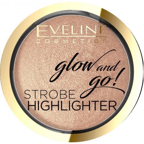 Eveline, Glow and Go!, Strobe Highlighter (Wypiekany rozświetlacz do twarzy)