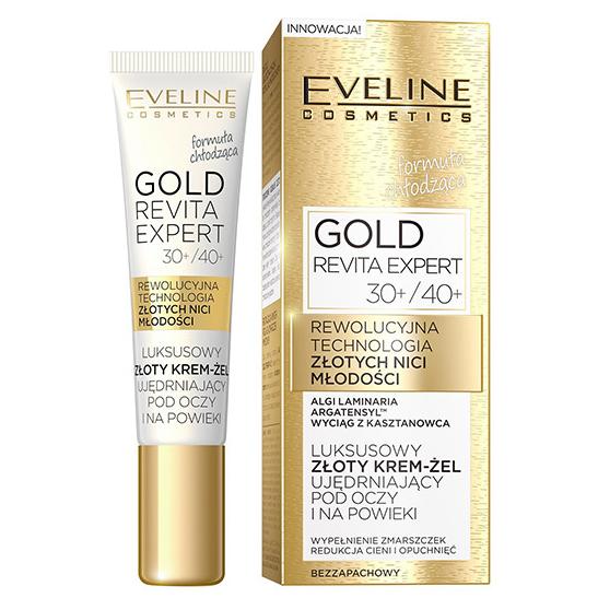b3a6f1db252 Eveline, Gold Revita Expert 30+/40+, Krem-żel ujędrniający pod oczy i na  powieki - cena, opinie, recenzja | KWC