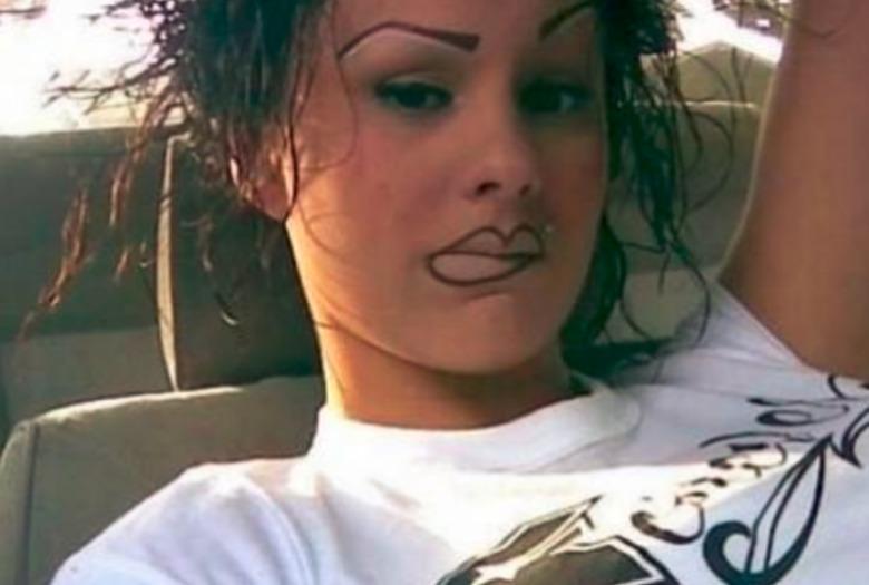 Najgorszy makijaż brwi ZDJĘCIA