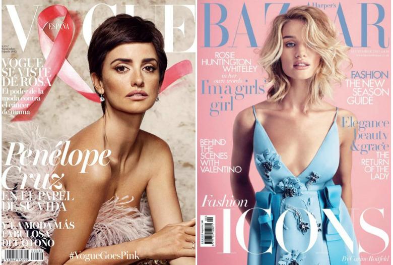 Okładki magazynów o modzie wrzesień 2015