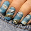 Dżinsowy manicure