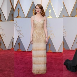 Karlie Kloss, Ema Stone i Kirsten Dunst na czerwonym dywanie podczas gali rozdania Oscarów 2017