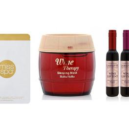 Kosmetyki z czerwonym winem