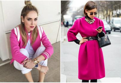 modne ubrania w kolorze fuksji stylizacje