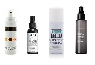Spraye utrwalające do makijażu NYX, Golden Rose, Avon, Makeup Revolution, Kryolan