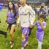 Cristiano Ronaldo z synem Cristiano Juniorem i partnerką Georginą Rodriquez