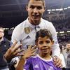 Cristiano Ronaldo z synem Cristiano Juniorem