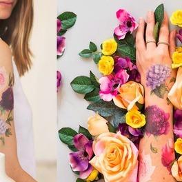tatuaże na ręce pachnące kwiatami