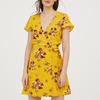 Kopertowa sukienka w kwiaty - H&M - 79 zł