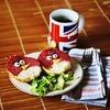 Kanapki Angry Birds - super pomysł na sniadanie