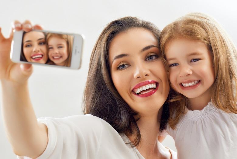 Mama i córka selfie