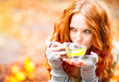 kobieta jesień