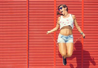 dziewczyna na skakance