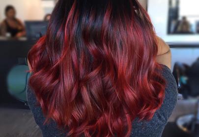 Czerwone ombre - zobacz inspiracje