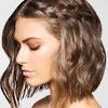 Lob z warkoczem z boku - krótkie fryzury