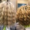 Metamorfoza kręconych włosów