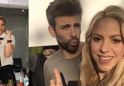Shakira z mężem robią sobie selfie