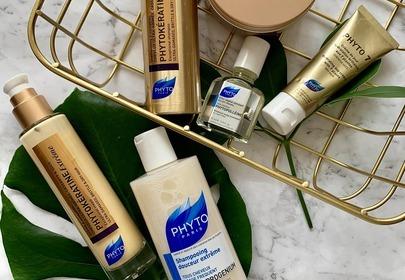 Test kosmetyków Phyto - seria keratynowa, eliksir i krem nawilżający