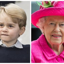 książę Jerzy i królowa Elżbieta II