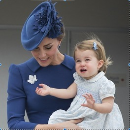 Księżna Kate z księżną Charlotte