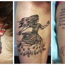 tatuaże inspirowane książkami