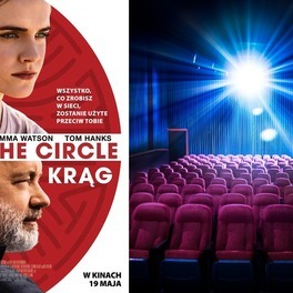 plakat filmowy the circle Krąg i widok sali kinowej