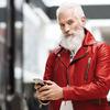 Fashion Santa w czerwonej kurtce Diesel