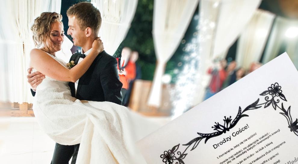 Zaproszenie Na ślub Z Zasadami Wizazpl