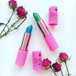 chameleon lipstick bell szminka zmieniająca kolor niebieska zielona