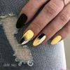Czarne paznokcie - kontrasty