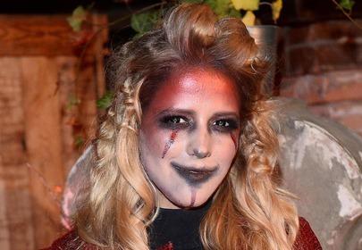 jessica mercedes w makijażu na halloween