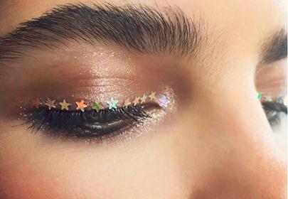 makijaż z gwiazdkami