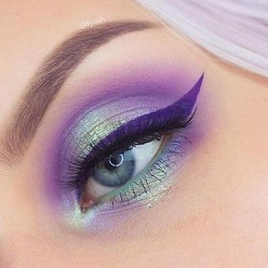 Makijaż oczu w kolorze Grape Soda