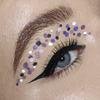 Makijaż oczu w kropki