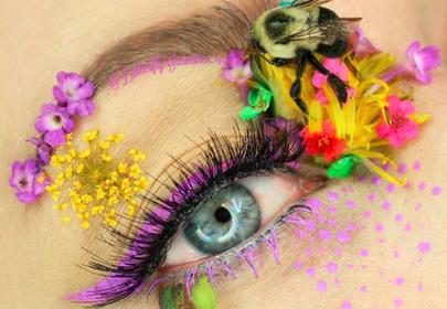 makijaż z pszczołą