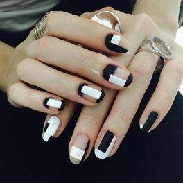 Geometryczne wzory na paznokciach INSPIRACJE