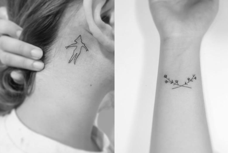 Minimalistyczne Tatuaże Koreańskiego Artysty Wizazpl