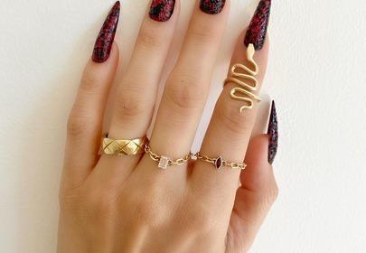 Modne paznokcie - snake skin nails