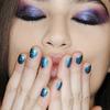 Lhuillier, niebieski, metaliczny manicure - jesień 2015