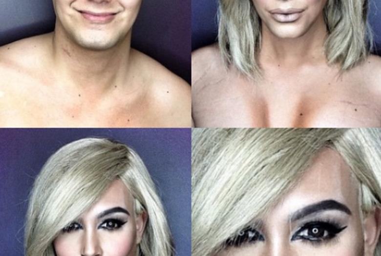 Makijażem zmienia się w gwiazd Hollywood