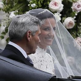 pippa middleton ślub makijaż ślubny z welonem