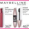 Przykładowy zestaw kosmetyków Maybelline