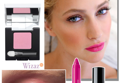 Słodki różowy makijaż